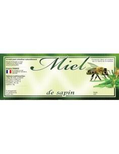 Étiquette adhésive miel Sapin